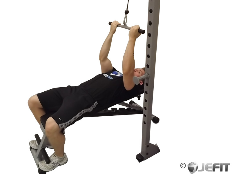 Cable Lying Close Grip Biceps Curl