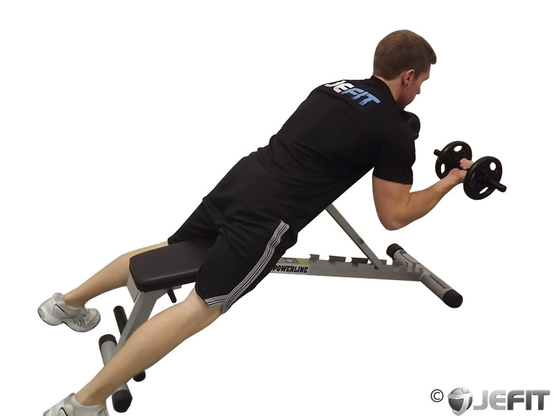Dumbbell Prone Incline Biceps Curl - Exercise Database ...