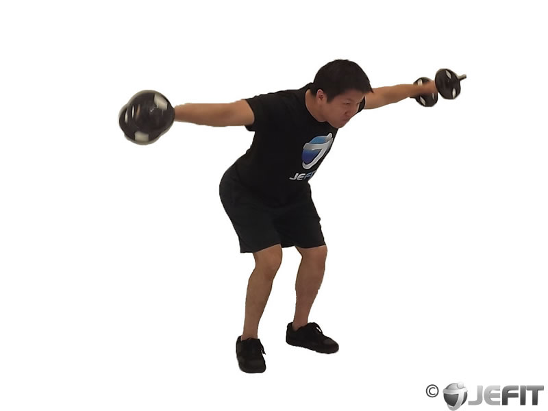 Dumbbell Bent Over Delt Raise