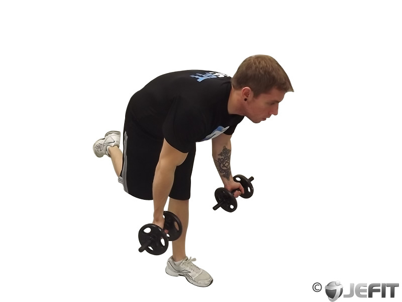 Dumbbell Bicep Curl With Stork Stance