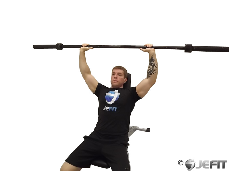 Barbell Incline Shoulder Raise