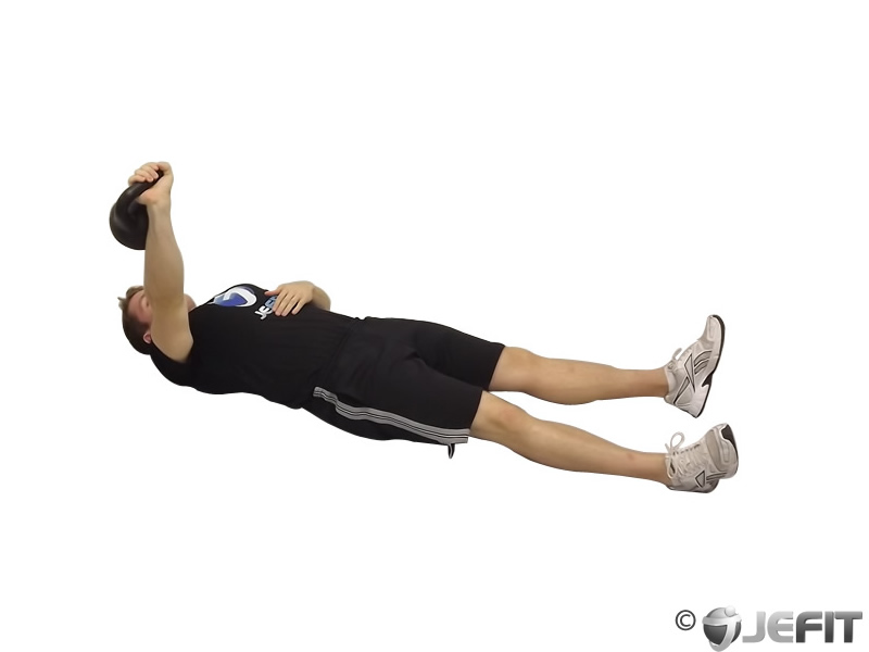 Kettlebell one arm floor press exercise database jefit for Floor underhand cable fly
