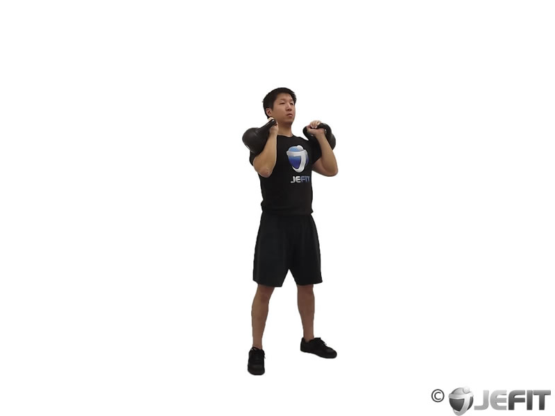 Double Kettlebell Push Press