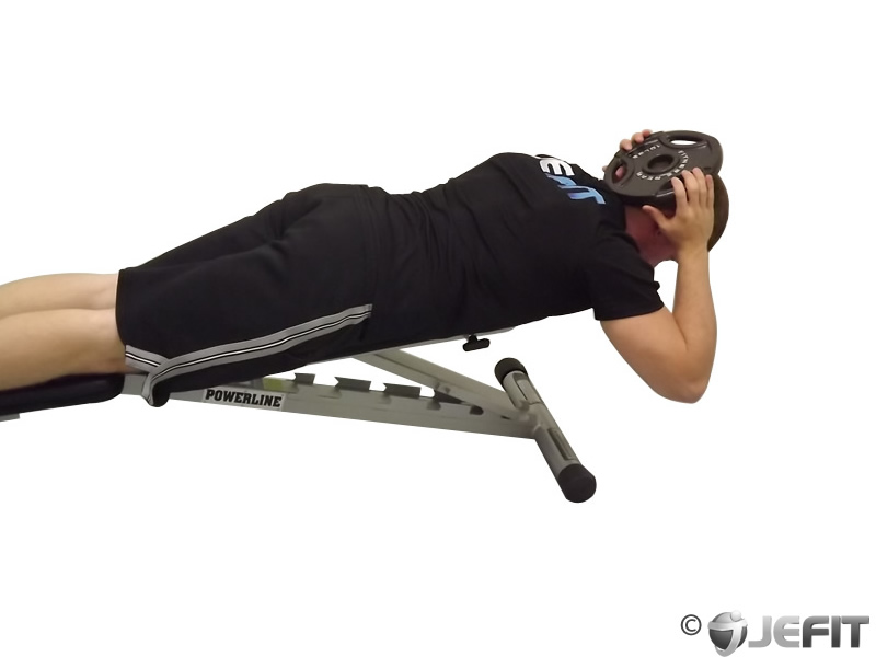 Weight Plate Lying Face Down Neck Resistance Exercise