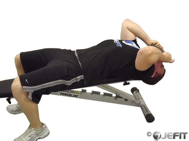 Weight Plate Lying Face Up Neck Resistance Exercise
