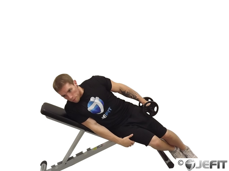 One Arm Incline Lateral Raise