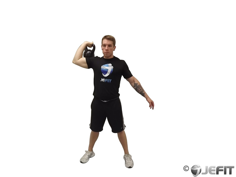 One Arm Kettlebell Para Press