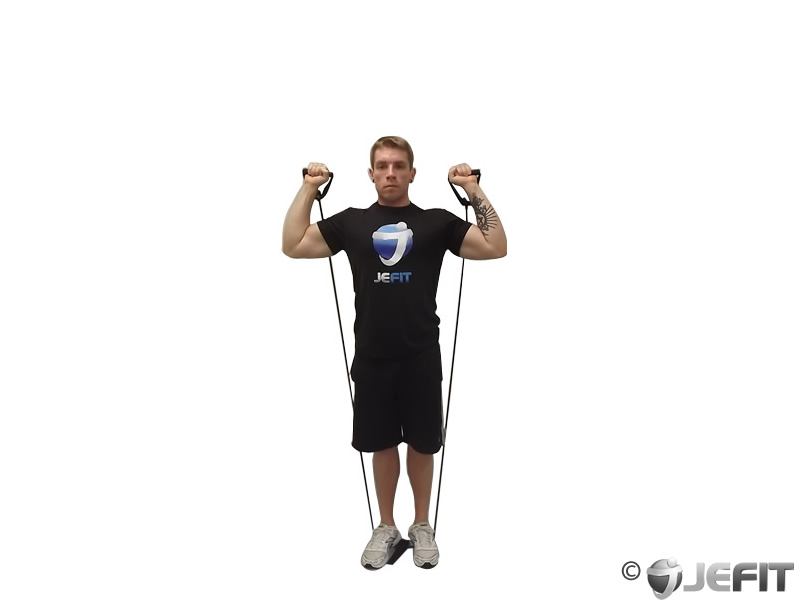 Shoulder Press With Bands