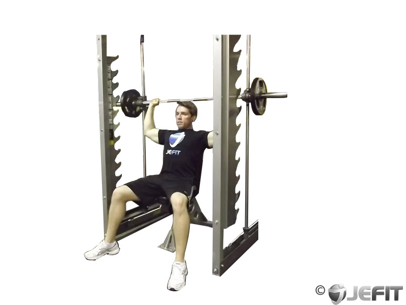 Smith Machine Overhead Shoulder Press - Exercise Database ...