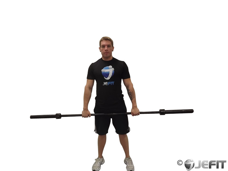 Barbell Standing Front Raise Over Head - Exercise Database | Jefit ...