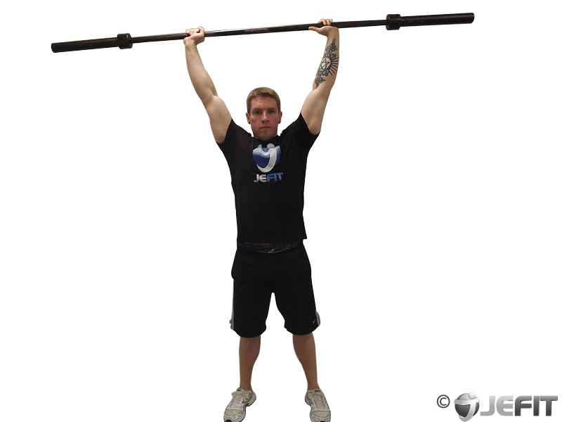 Barbell Standing Front Raise Over Head Exercise Database