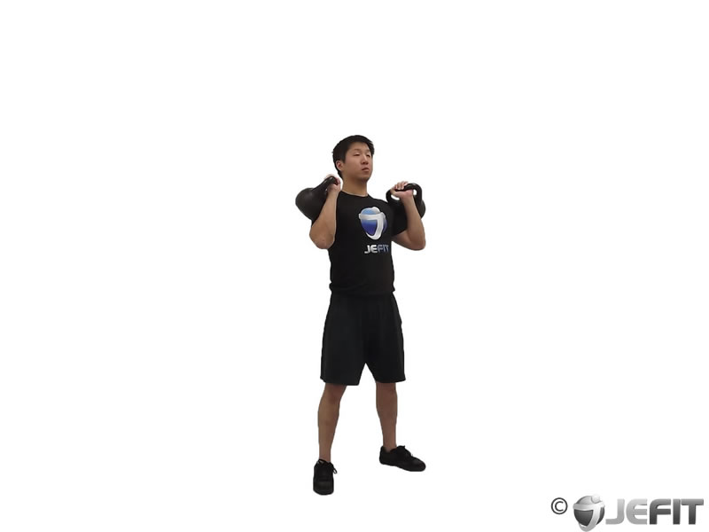 Two Arm Kettlebell Jerk