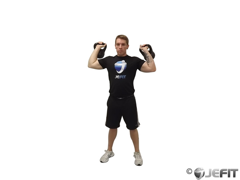 Kettlebell Two Arm Military Press Exercise Database Jefit Best Android And Iphone Workout