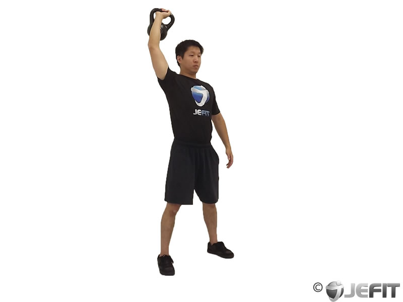 One Arm Overhead Kettlebell Squat