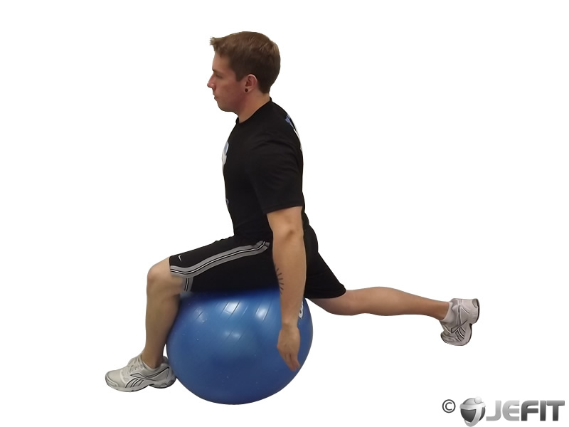 Hip Flexor Stretch on Exercise Ball