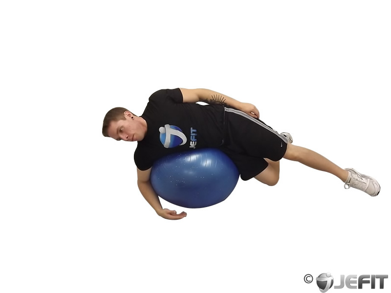 Lat Side Lying on Exercise Ball