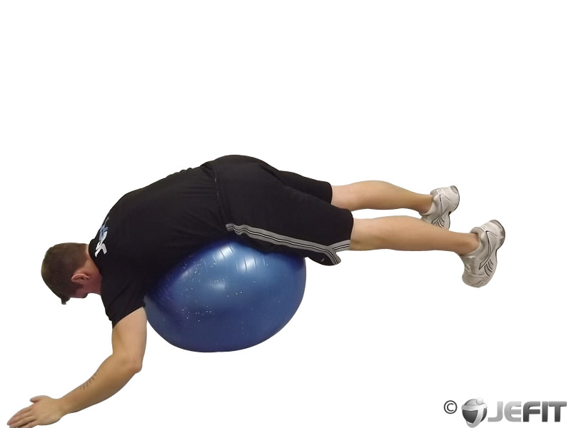 Low Back Stretch Prone Over Exercise Ball