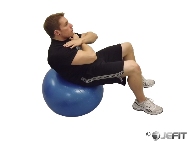 Exercise Ball Crunch Exercise Database Jefit Best