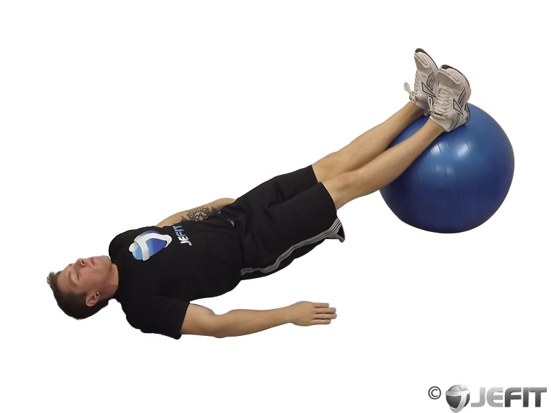 Exercise Ball Reverse Supine Bridge Exercise Database