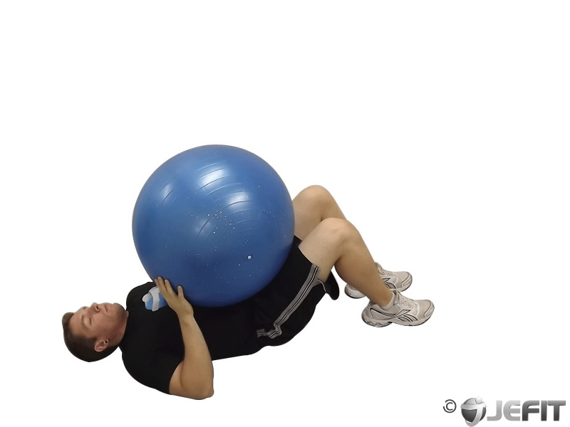 Ab Curl with Exercise Ball