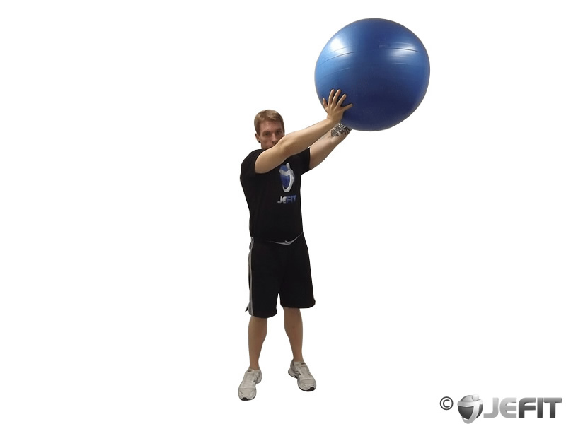 Wood Chops with Exercise Ball