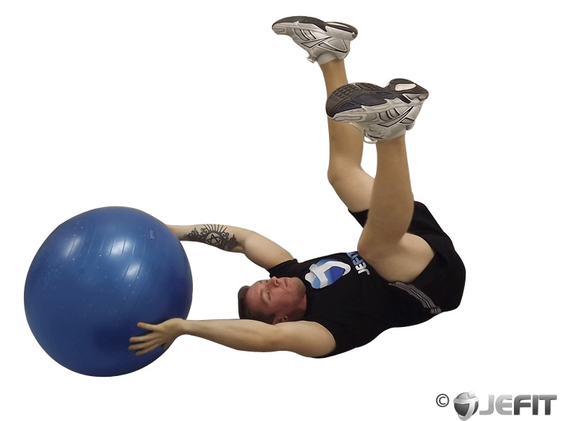 V Up with Exercise Ball