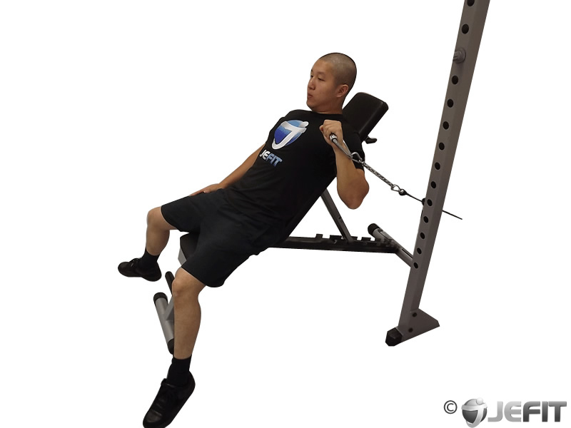 Cable One Arm Incline Press