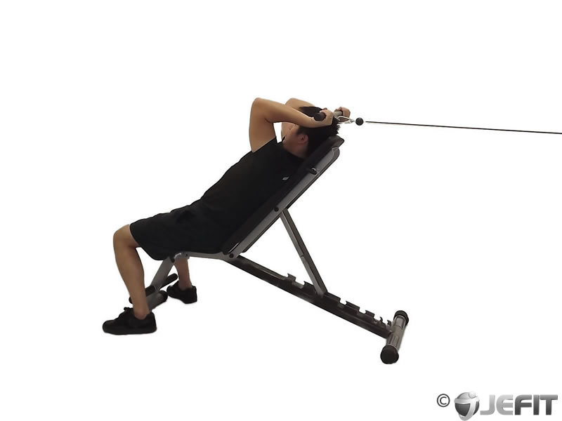 Cable Reverse Grip Incline Tricep Extension