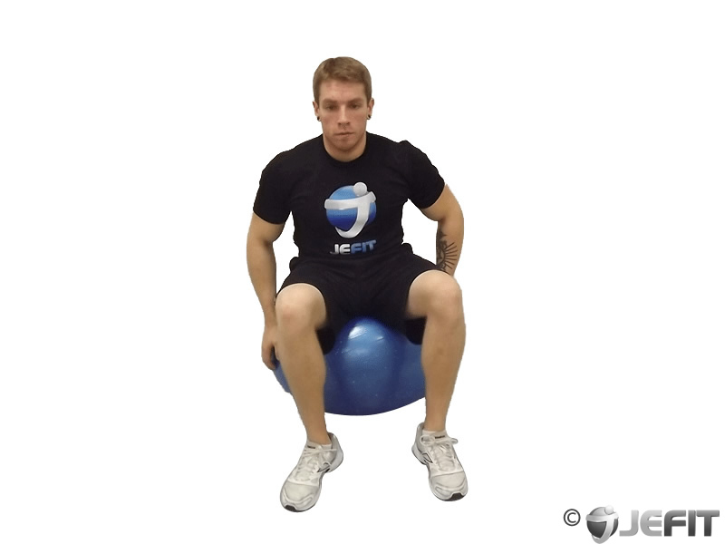 Seated Triceps Stretch on Exercise Ball