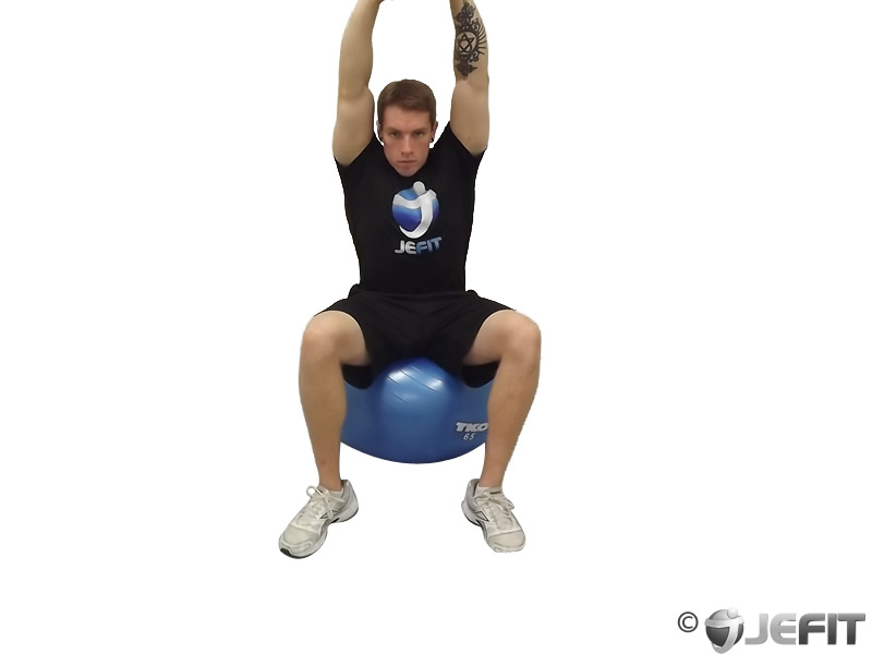 Seated Overhead Stretch Exercise Database Jefit Best