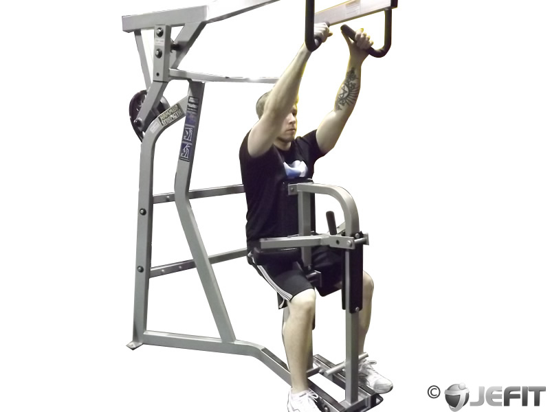 Leverage Machine High Row Exercise Database Jefit