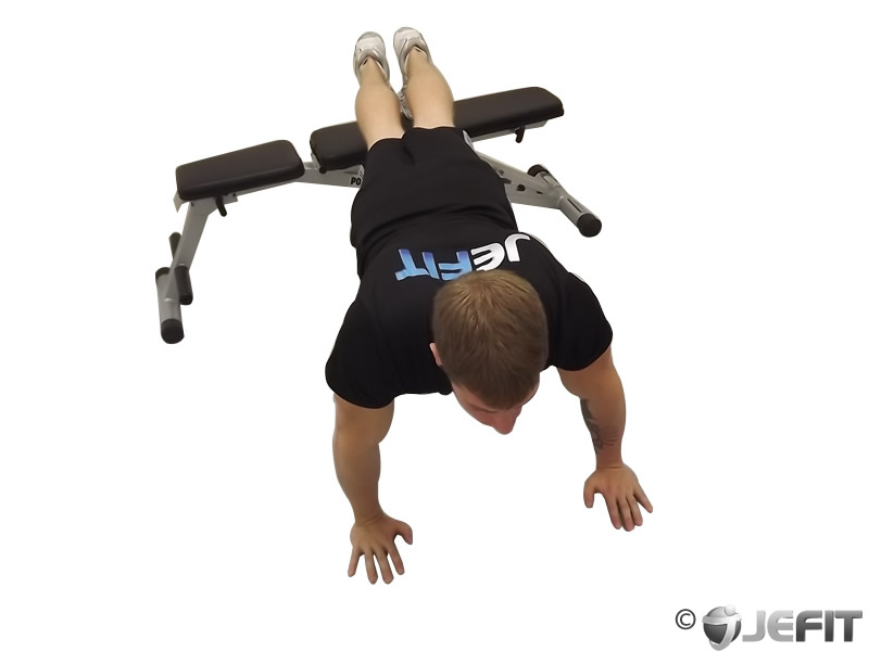 Push Ups with Feet Elevated