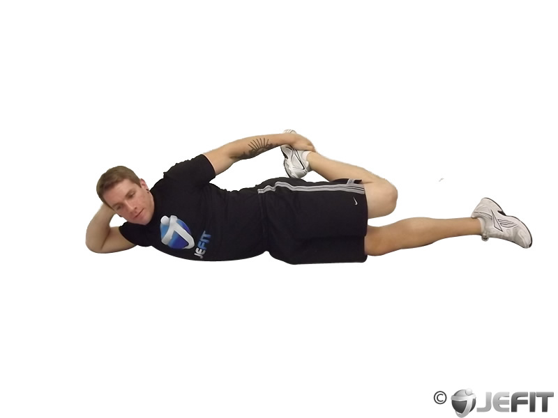 On your side quad stretch exercise database jefit for Floor quad stretch