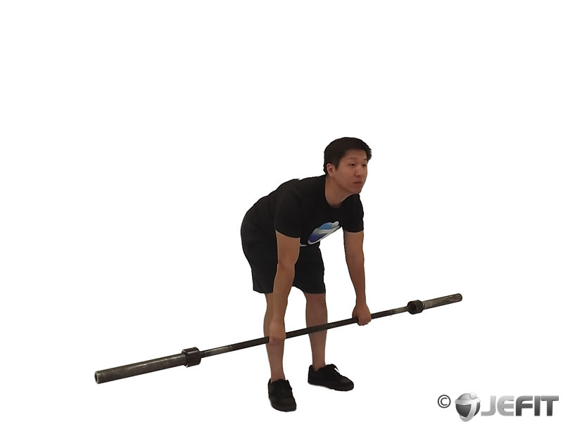 Stiff-Legged Barbell Deadlift