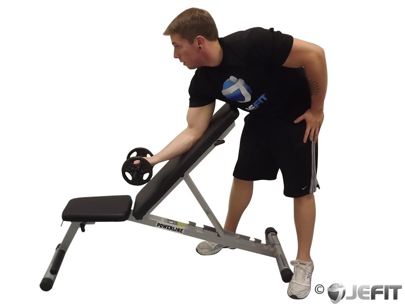Dumbbell Standing One-Arm Curl Over Incline Bench - Exercise Database | Jefit - Best Android and ...