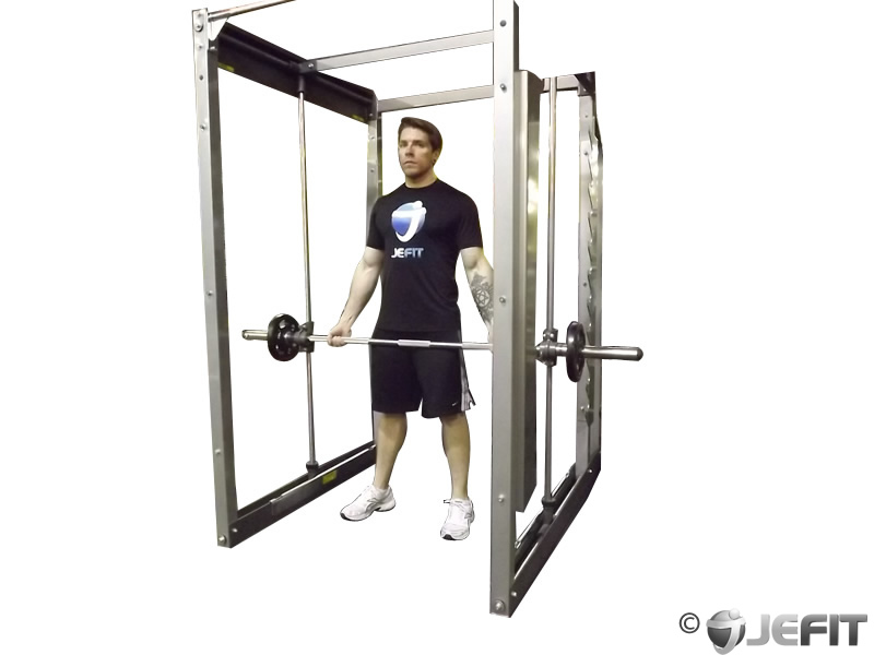 Smith Machine Bicep Curl