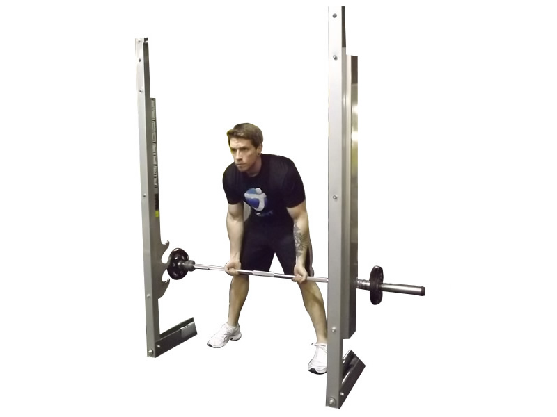 Reverse Grip Smith Machine Bent Over Row