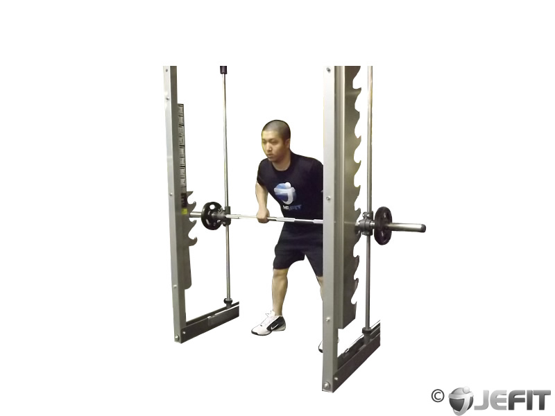 Smith Machine One Arm Row Exercise Database Jefit