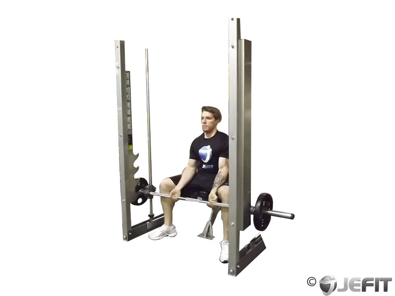 Smith Machine Seated Wrist Curl