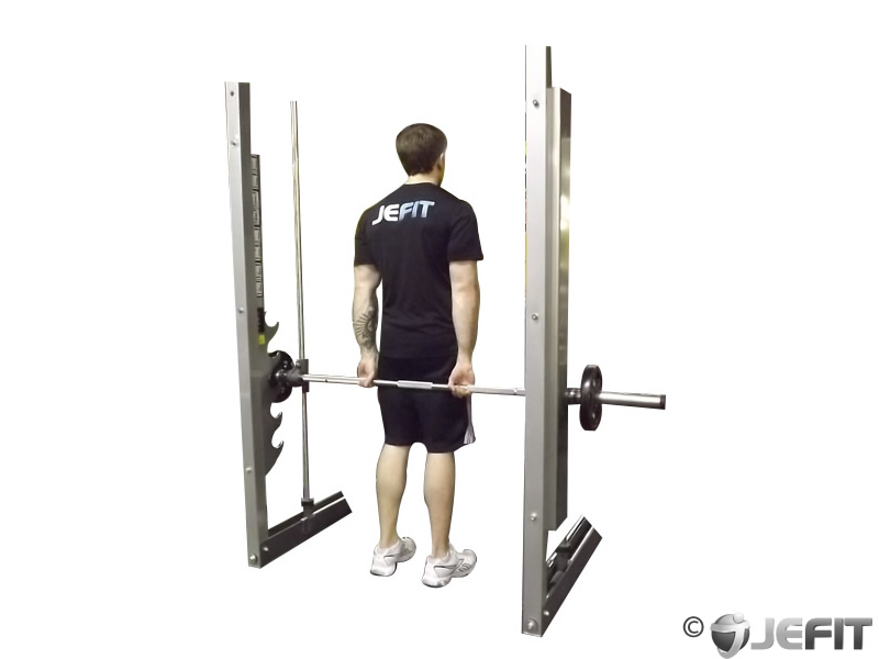 Standing Behind the Back Smith Machine Wrist Curl