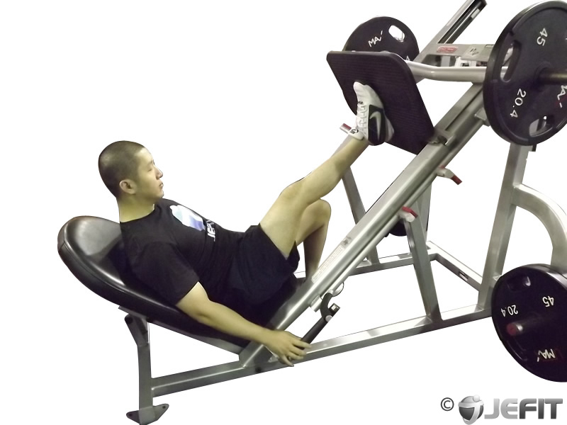 One Leg 45 Degree Leg Press Exercise Database Jefit