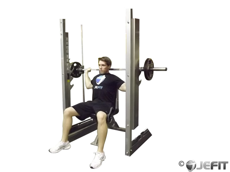 Smith Machine Shoulder Press Behind the Neck