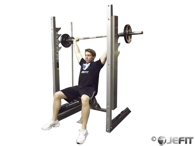 Machine Press Workout Smith Machine Shoulder Press