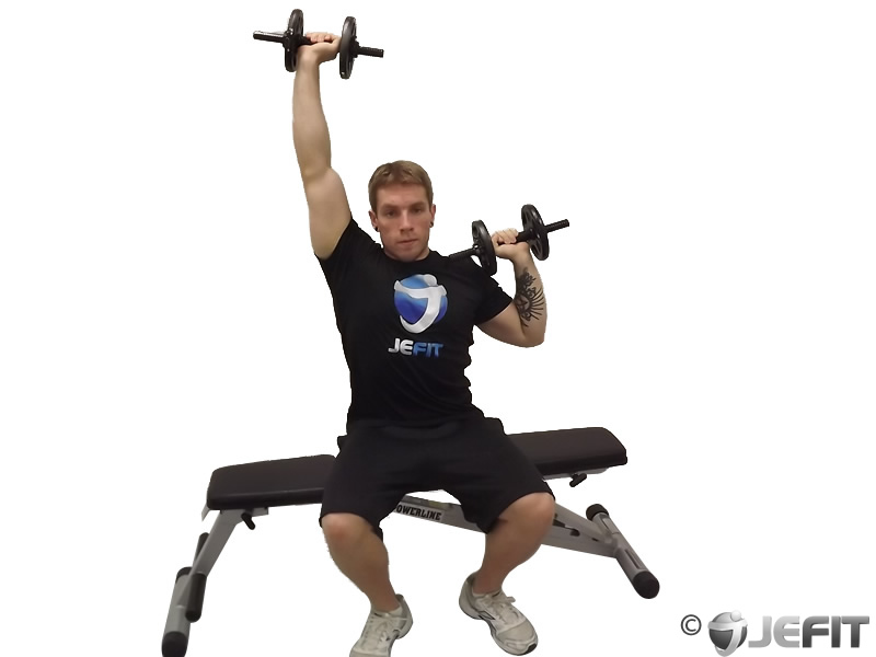 Alternate Seated Dumbbell Press