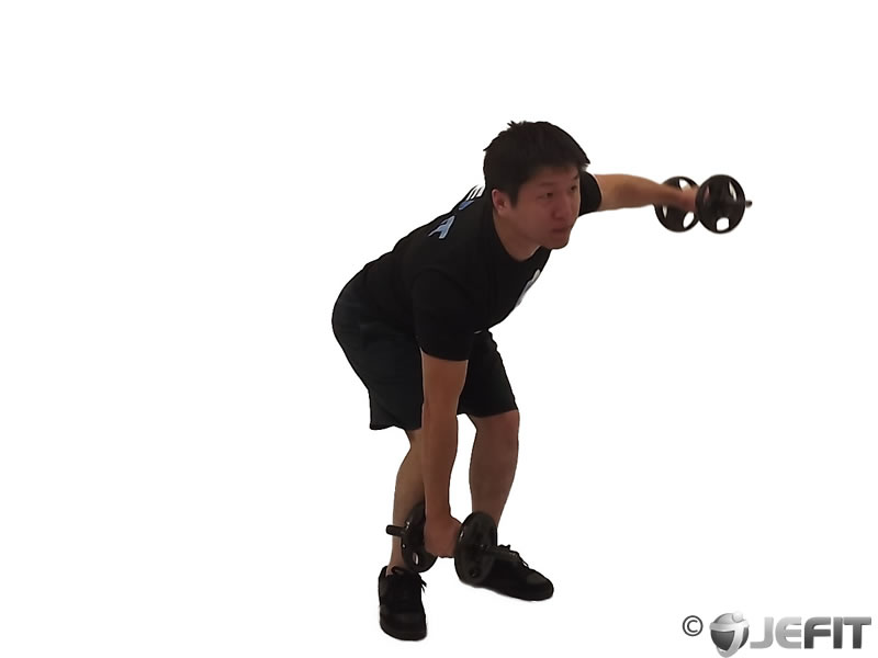 Alternate Bent Over Dumbbell Reverse Fly