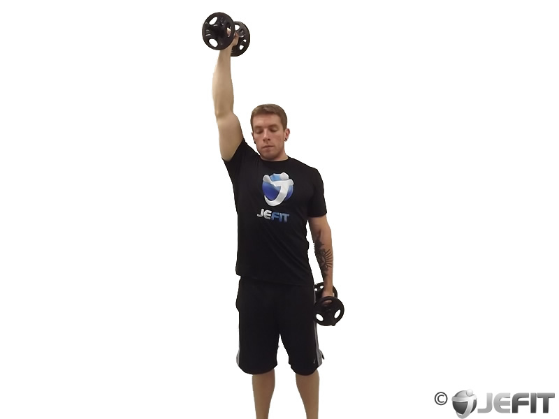 Alternate One Arm Standing Palms In Dumbbell Press