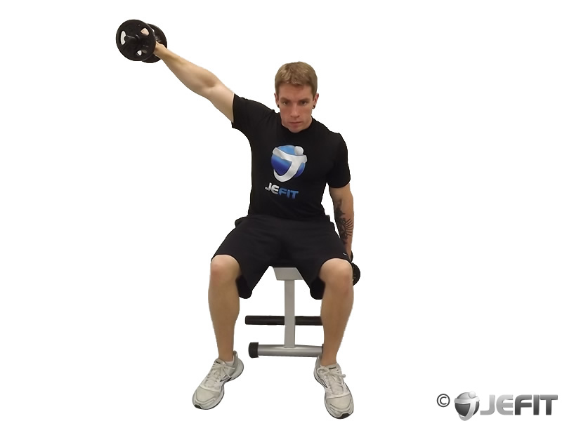 Alternate Seated Dumbbell Lateral Raise