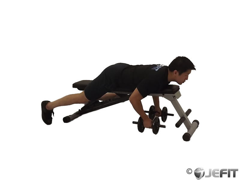 Dumbbell lying reverse fly exercise database jefit for Floor underhand cable fly