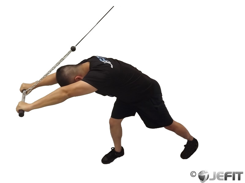 Cable High Pulley Overhead Tricep Extension Exercise