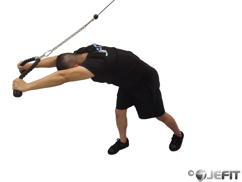 High Pulley Overhead Rope Tricep Extension